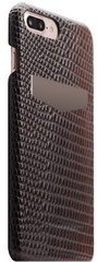 SLG D3 Italian Lizard Leather Back Case for iPhone 8 Plus / 7 Plus - Brown