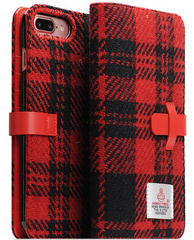 D5 Special Edition X Harris Tweed Case - Black/Red (iPhone 7/8 Plus)