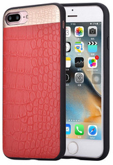 Comma Croco Leather Case for iPhone 7/8 Plus - Red