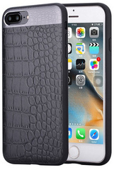 Comma Croco Leather Case for iPhone 7/8 Plus - Black