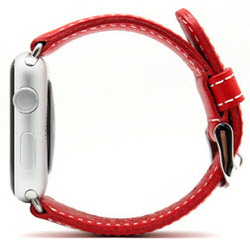 D6 Italian Leather Strap - Red