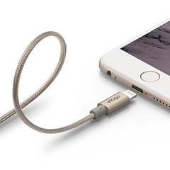 Aluminum Lightning Cable for Sync & Charge - Gold