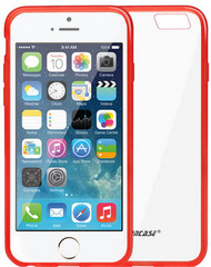 Jison Case Flexible Cover Skin Case for iPhone 6/6S with TPU - Red