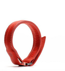 D6 Italian Minerva Box Leather Bracelet Cable - Red