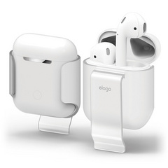 Elago Airpods Carrying Clip - Frosted Transparent