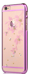 Crystal Flowery Case - Rose Pink