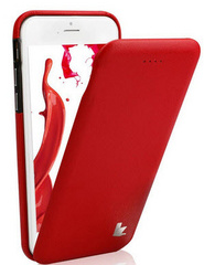 Leather Flip Case - Red