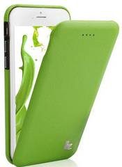 Leather Flip Case - Green