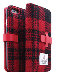 D5 Harris Tweed Edition Case - Black/Red  (iPhone 6/6s)