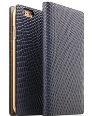 D3 Lizard Leather Case - Navy
