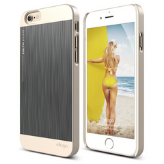 S6 Outfit Matrix Case - Champagne Gold / Dark Gray