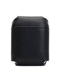 SLG D6 Italian Minerva Box Leather AirPods Pouch - Black