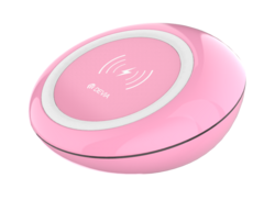 Devia Wireless Charging Pad - Pink