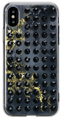 BMT Extravaganza Onyx Jet crystal case for iPhone X/Xs