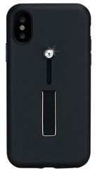 BMT SelfieLOOP case for iPhone X/Xs - Black/Crystal