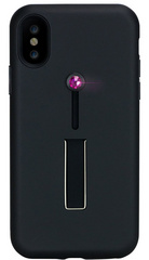 BMT SelfieLOOP case for iPhone X/Xs - Black/Pink