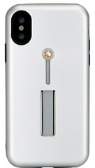 BMT SelfieLOOP case for iPhone X/Xs - Silver/Gold