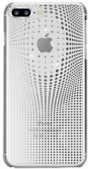 BMT Warp Deluxe case for iPhone 8 Plus - Silver/Crystals