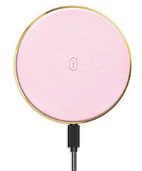 WIWU Quantus Leather Wireless Charger - Pink