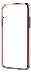 Devia Glimmer Case for iPhone X - Transparent/Rose Gold