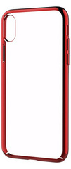 Devia Glimmer Case for iPhone X - Transparent/Red