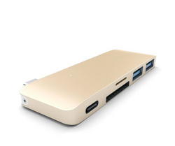 Satechi Type-C USB Passthrough Hub Enclosure - Gold