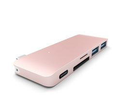 Satechi Type-C USB Passthrough Hub Enclosure - Rose Gold
