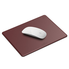 Elago Genuine Leather Mouse Pad - Burgundy