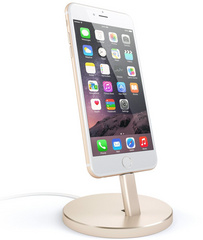 Satechi Aluminum Lightning Charging Stand - Gold