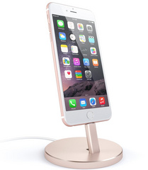 Satechi Aluminum Lightning Charging Stand - Rose Gold