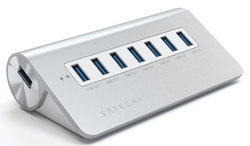 Satechi Aluminum 7-Port USB 3.0 Hub for iMac, MacBook Air, MacBook Pro, MacBook and Mac Mini - Silver