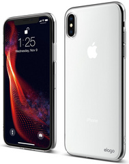 Elago Slim Fit Case for iPhone Xs - Crystal Clear