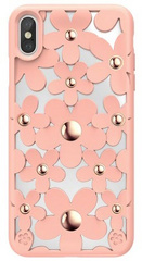 SwitchEasy Fleur case for iPhone Xs - Rose Pink