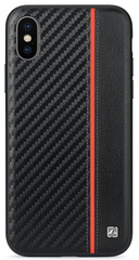 Meleovo Carbon Case for iPhone X/Xs - Red Line
