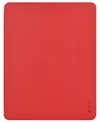 Devia Leather iPad 10.2'' case with Apple Pen Holder - Red