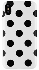 JT Legend Polka Case for iPhone X/Xs - White