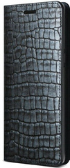 Verus Genuine Croco Diary Series case for iPhone X/Xs - Dark Blue