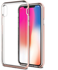 Verus Crystal Bumper Series case for iPhone X/Xs - Rose Gold