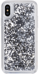 Comma Pattern Series Crystal Case for iPhone X - Stars