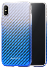 Meleovo Flash Carbon Case for iPhone X - Blue