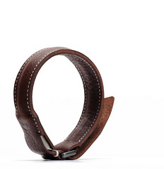 D6 Italian Minerva Box Leather Bracelet Cable - Brown