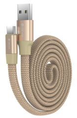 Devia Ring USB to Type-C Cable 0.8m - Gold