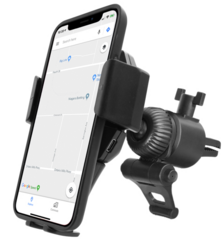 Macally Car Air Vent Phone Mount with Wireless QI Charger