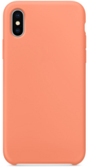 Original Silicone Case for iPhone Xs - Peach