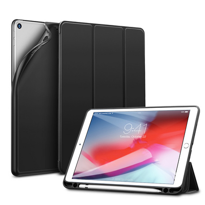 Sdesign Silicone Case with Apple Pencil holder for iPad 10.2'' 2019 - Black