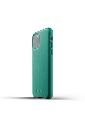 MUJJO Full Leather Case for iPhone 11 - Alpine Green