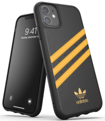 Adidas Moulded PU Case for iPhone 11 - Black/Yellow