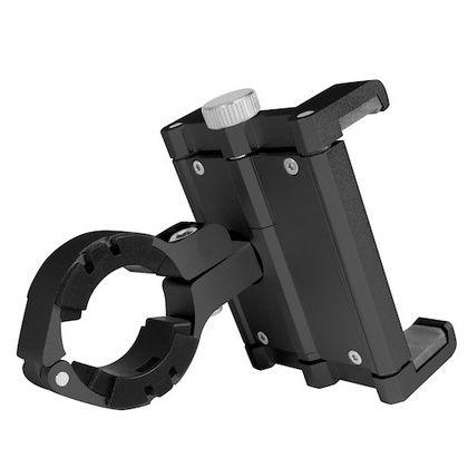 Aluminum bicycle phone mount for iPhone/smartphone - Black
