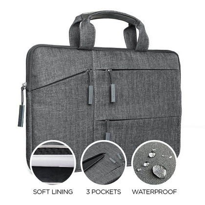"Satechi Fabric Carrying 15"" bag - Gray"
