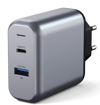 Satechi 30W Dual Port Wall Charger - Space Gray